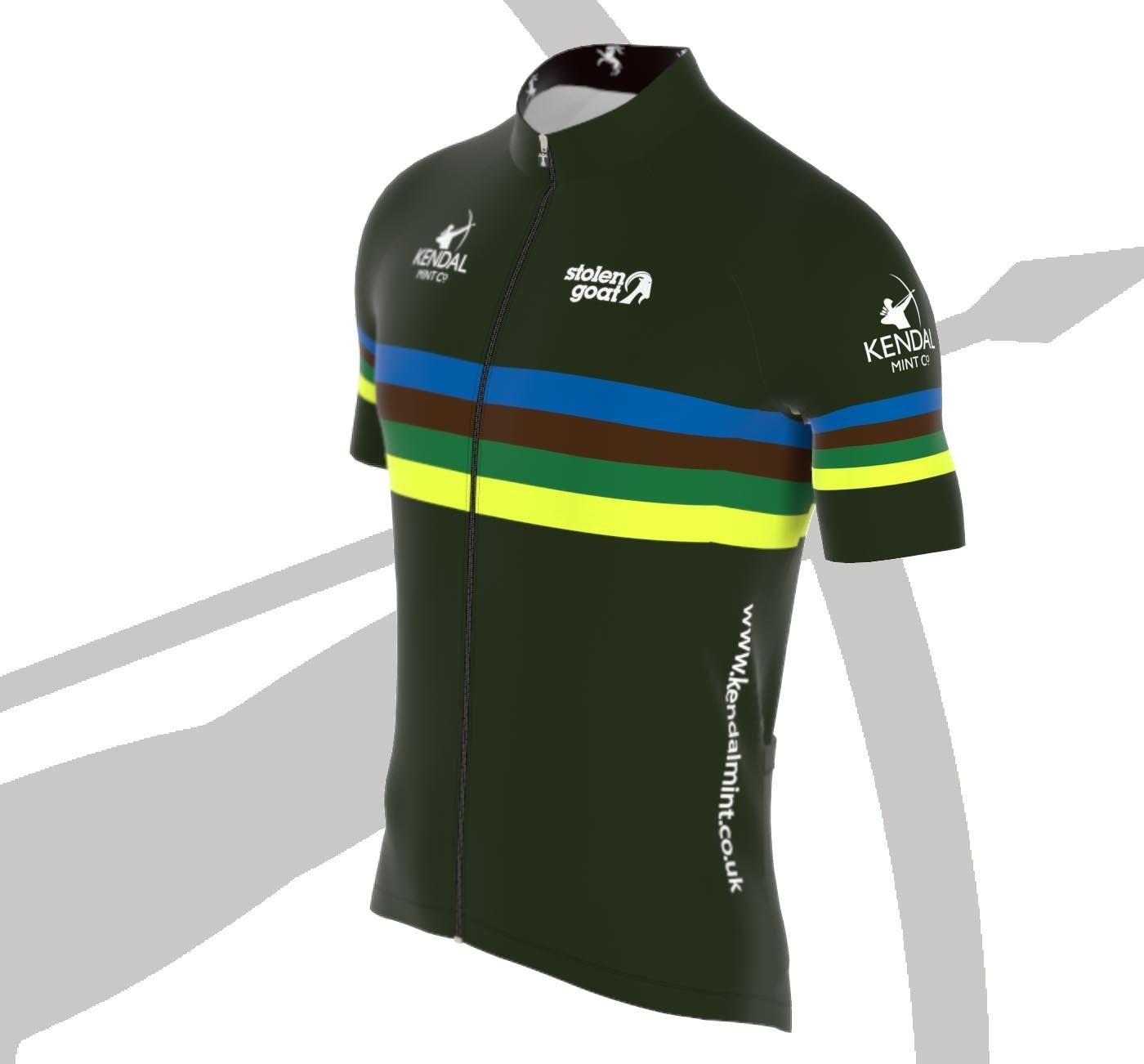 NEW! Kendal Mint Men's Bodyline Cycling Jersey (Limited Stock Available Now))