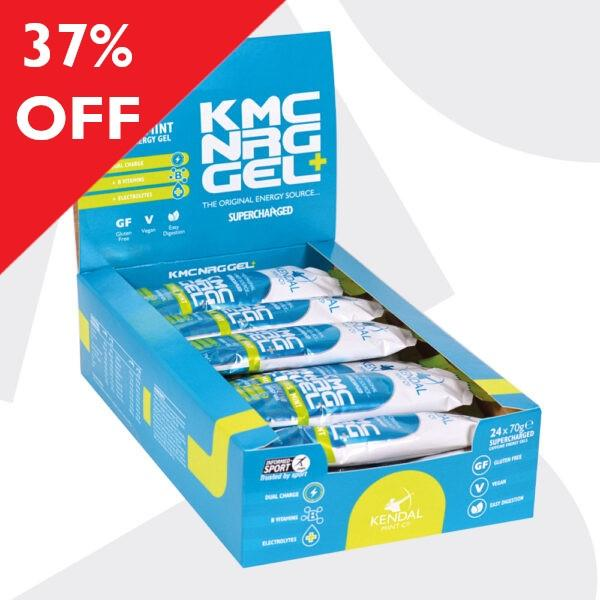 KMC NRG GEL+ Citrus & Mint Caffeine Energy Gel 24 x 70g SHORTER DATED