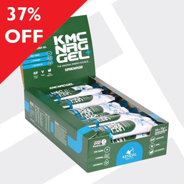 KMC NRG GEL+ Mint Caffeine Energy Gel 24 x 70g SHORTER DATED