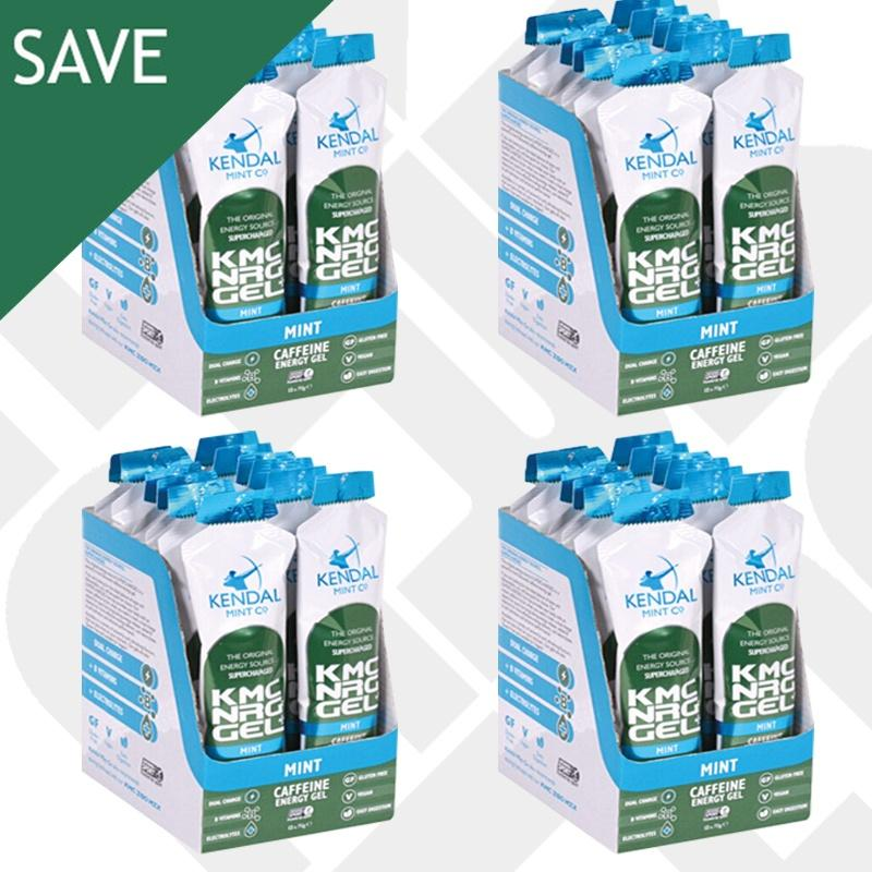 KMC NRG GEL+ Mint Caffeine Energy Gel Flavour Bundle 48x 70g