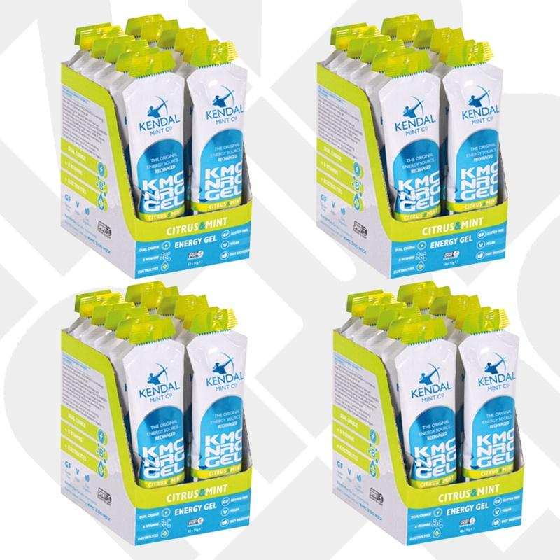 KMC NRG GEL Citrus & Mint Energy Gel flavour bundle 48x 70g