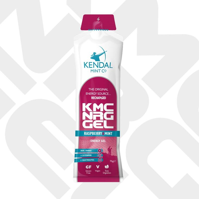 NEW! KMC NRG GEL Raspberry & Mint Energy Gel 70g