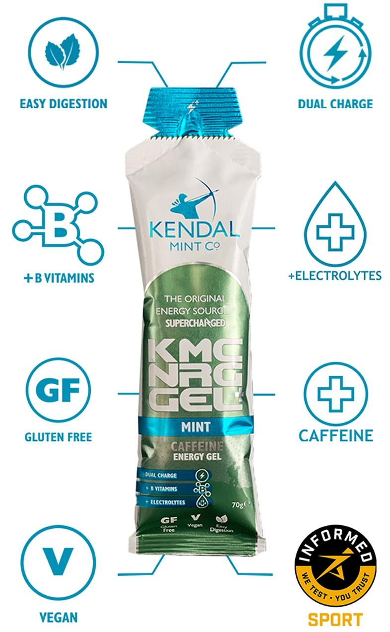 KMC NRG GEL+ Mint Caffeine Energy Gel
