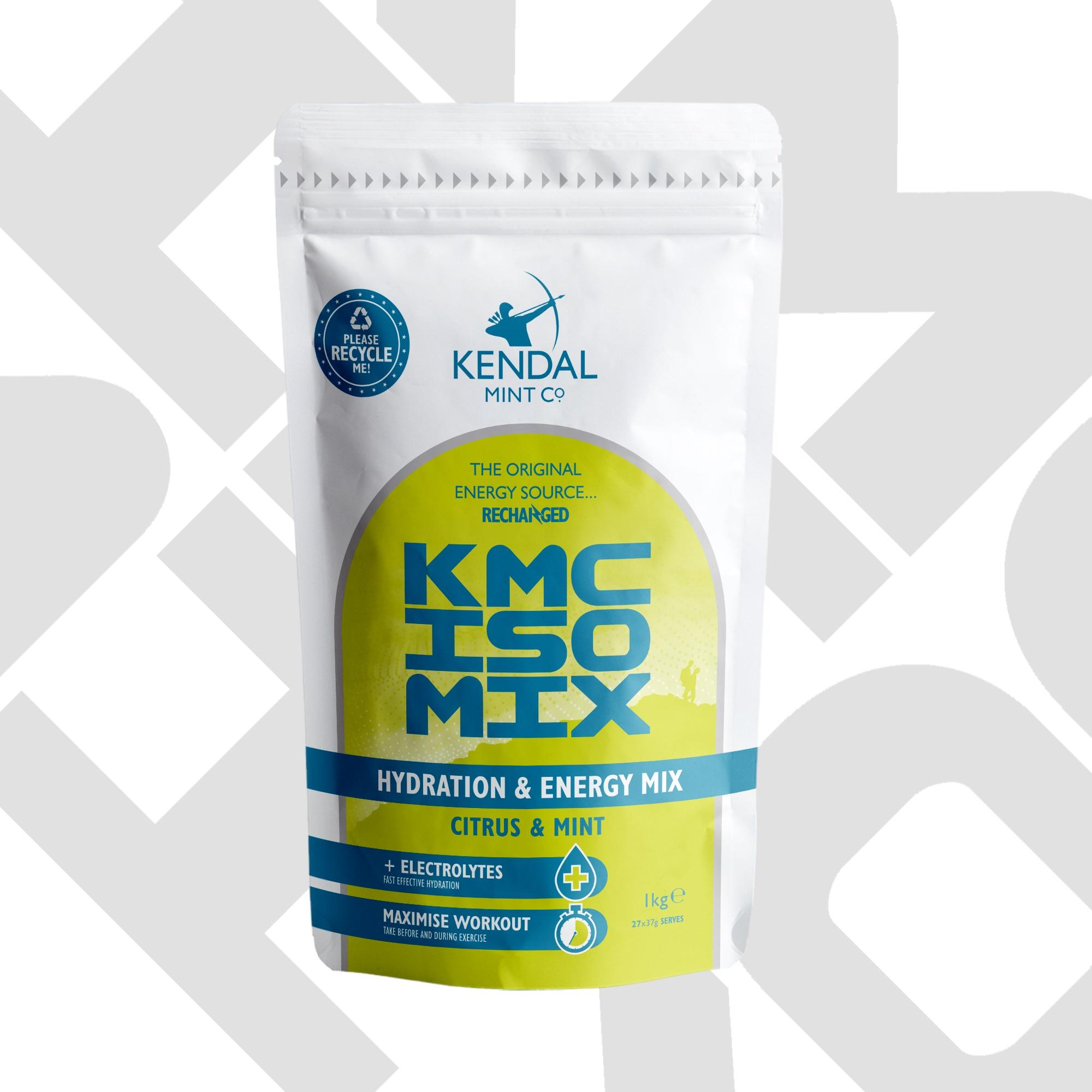 KMC ISO MIX isotonic hydration energy drink mix citrus & mint flavour