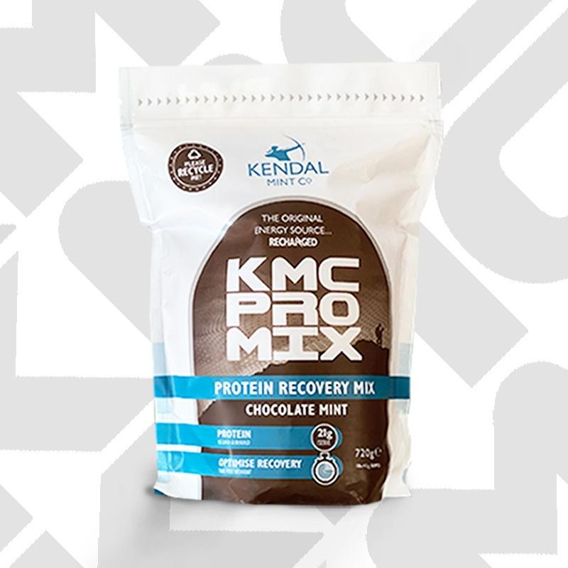 KMC PRO MIX Chocolate Mint Premium whey protein recovery powder by kendal mint co