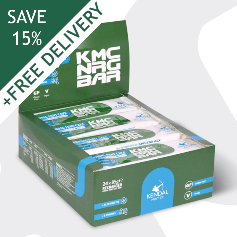 KMC NRG BAR Kendal Mint Cake Recharged 85g (Subscribe & Save 15%)